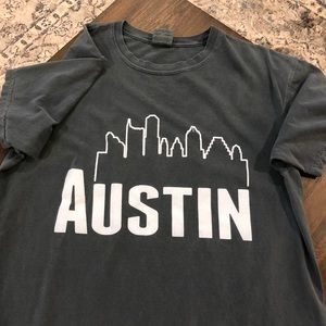 Austin Dark Green Comfort Colors T-shirt!